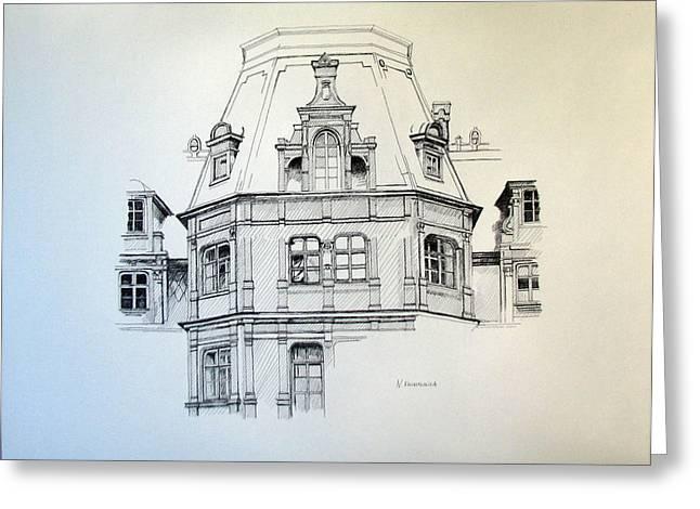 Sobanski Palace Greeting Card by Nel Kwiatkowska