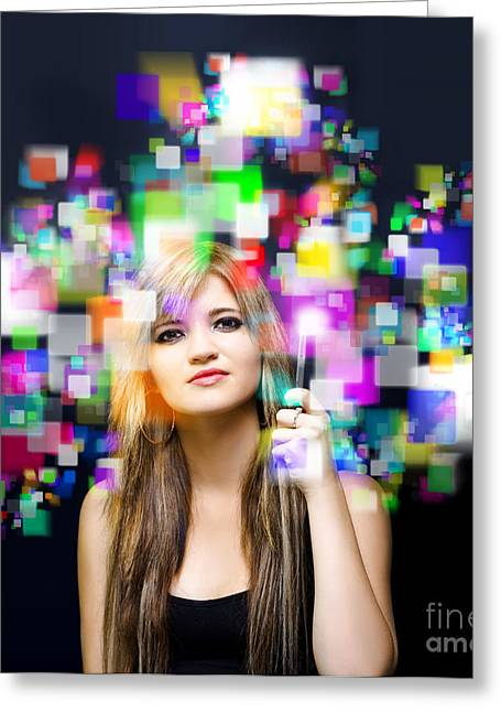 Social Media And Networking Greeting Card by Jorgo Photography - Wall Art Gallery