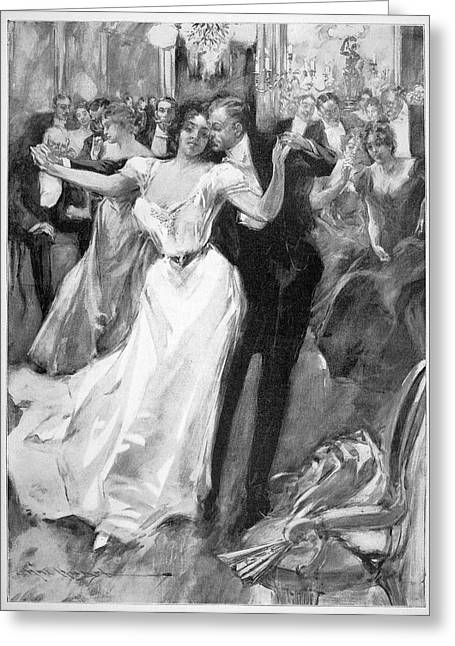 Society Ball, C1900 Greeting Card by Granger