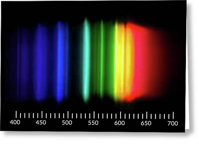 Sodium Emission Spectrum Greeting Card by Carlos Clarivan