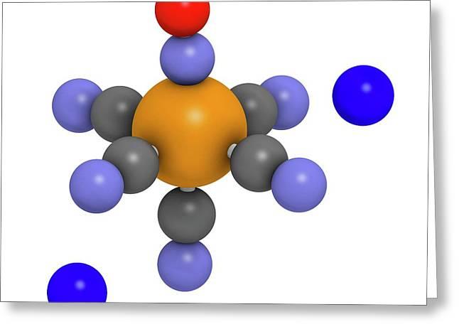 Sodium Nitroprusside Drug Molecule Greeting Card by Molekuul