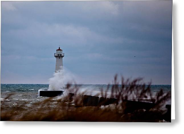 Greeting Card featuring the photograph Sodus Point Lighthouse by Chris Babcock