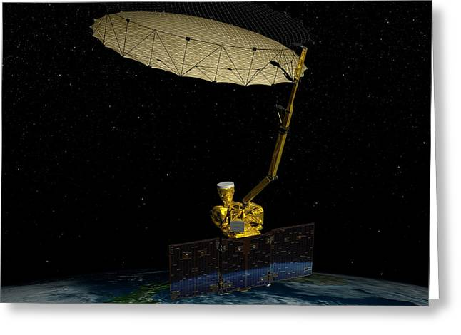 Soil Moisture Active Passive Satellite Greeting Card by Nasa/jpl-caltech