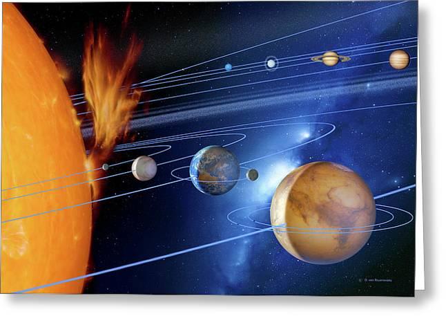 Solar System Greeting Card