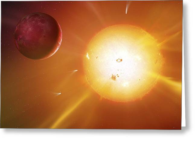Solar System Formation, Artwork Greeting Card by Science Photo Library