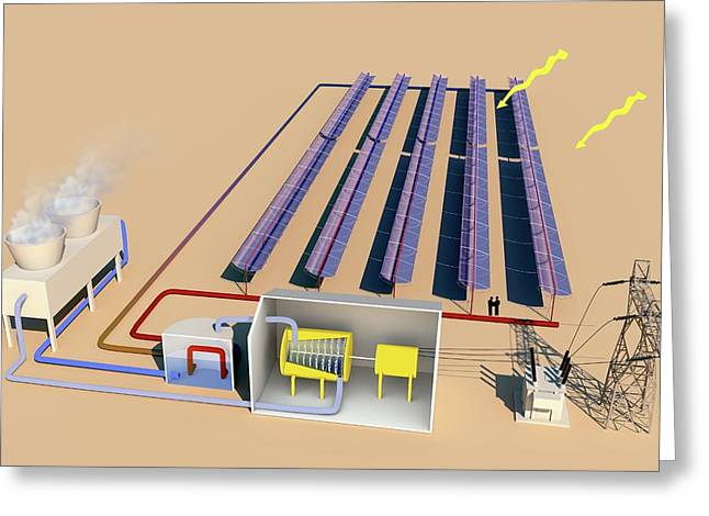 Solar Thermal Power Greeting Card by Science Photo Library