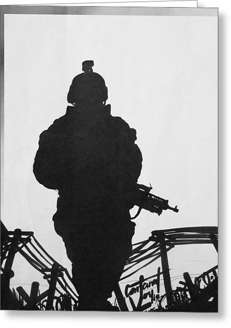 Soldier Greeting Card by David Cohen