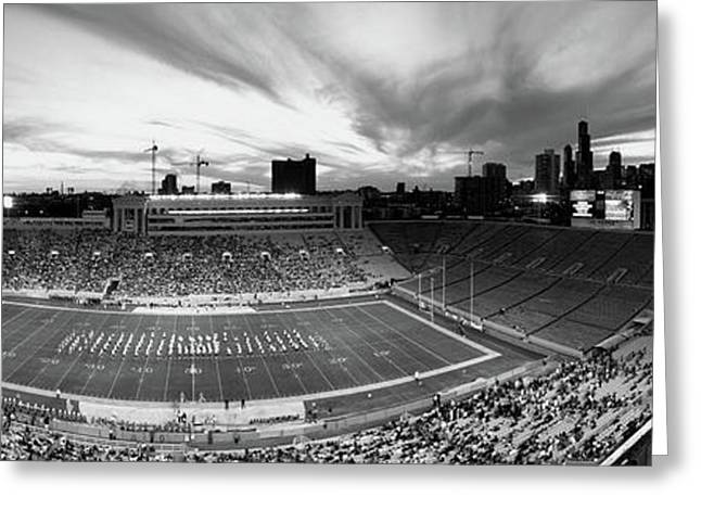 Soldier Field Football, Chicago Greeting Card by Panoramic Images