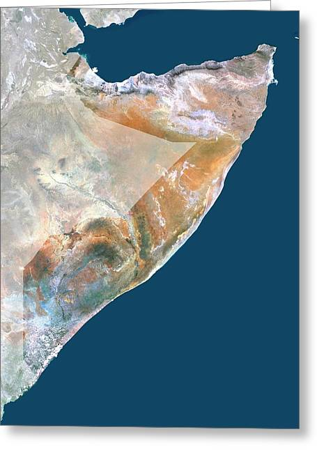 Somalia Greeting Card by Planetobserver/science Photo Library