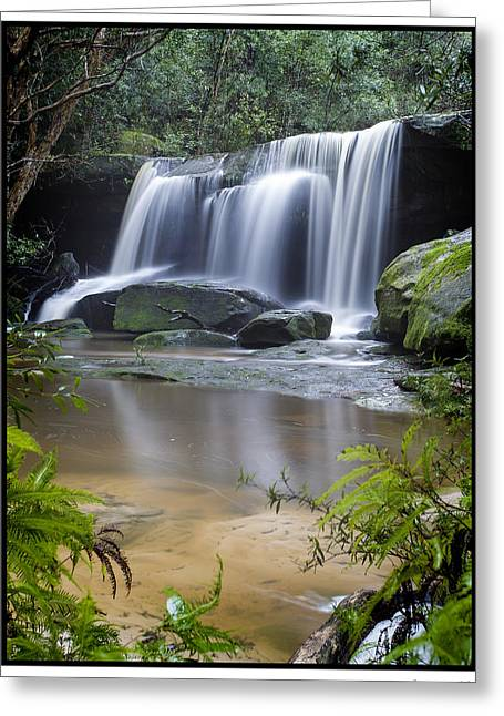 Somersby Falls Greeting Card by Steve Caldwell
