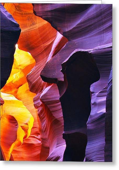 Greeting Card featuring the photograph Somewhere In America Series - Antelope Canyon by Lilia D
