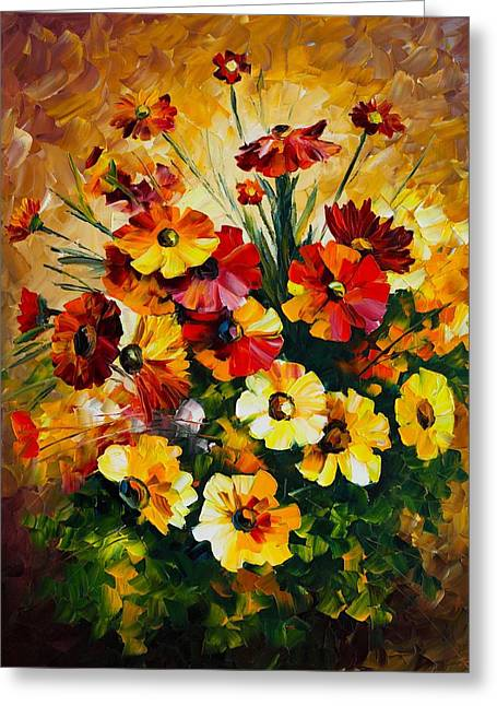 Songs Of My Heart Greeting Card by Leonid Afremov