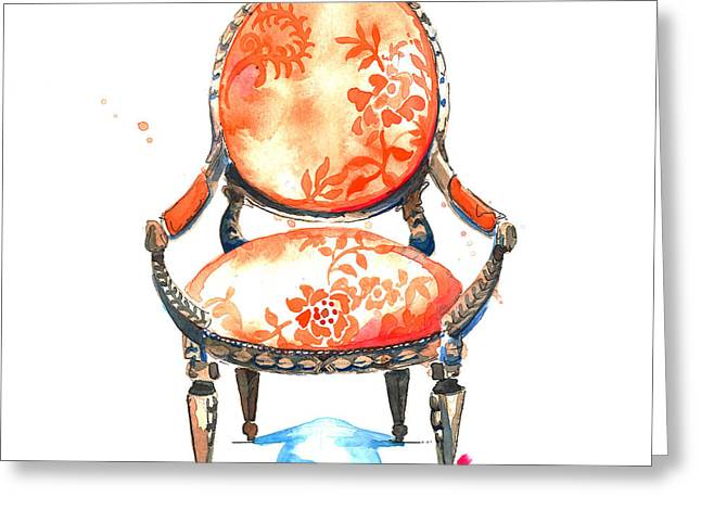 Sophia Chair Greeting Card by Roleen  Senic