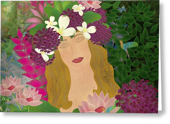 Soul Of Flowers  Greeting Card