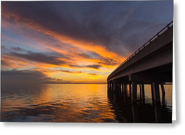 Greeting Card featuring the photograph Soundside Sunset by Gregg Southard