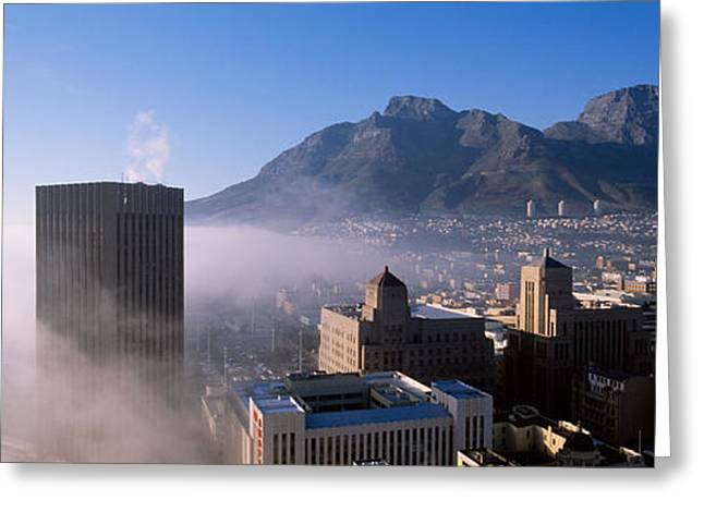 South Africa, Cape Town And Table Greeting Card by Panoramic Images