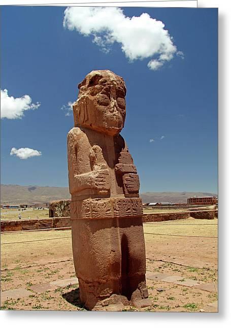 South America, Bolivia, Tiwanaku Greeting Card