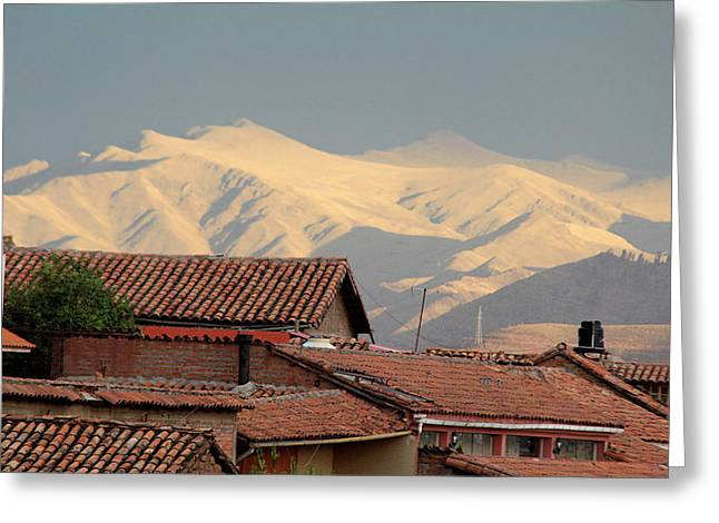 South America, Peru, Cusco Greeting Card by Kymri Wilt