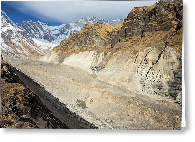 South Annapurna Glacier Greeting Card by Ashley Cooper