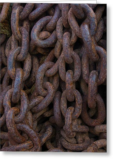 South Georgia Giant Rusted Chains Using Greeting Card by Inger Hogstrom