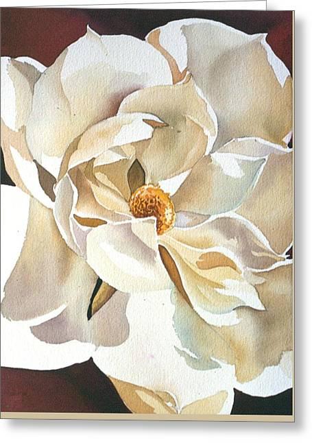 Southern Magnolia Greeting Card by Alfred Ng
