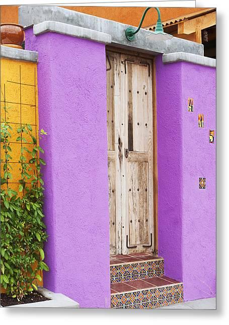 Southwest Doorway Greeting Card by Elvira Butler