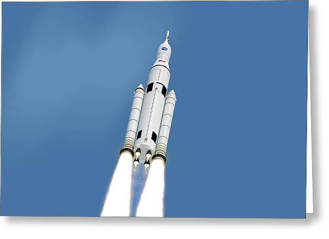 Space Launch System Greeting Card