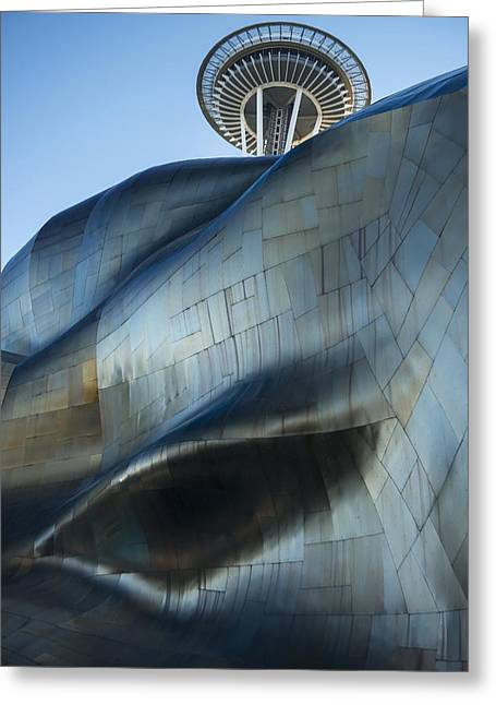 Space Needle Greeting Card by Christian Heeb