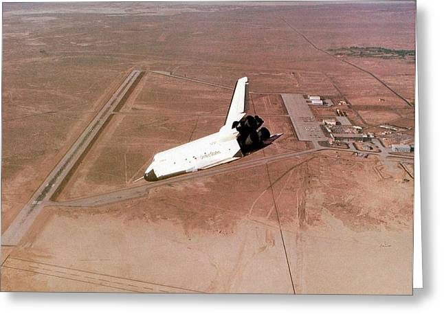 Space Shuttle Prototype Testing Greeting Card