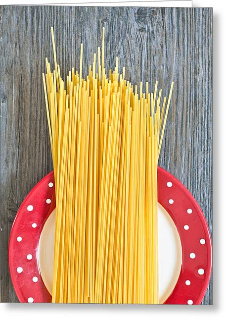 Spaghetti  Greeting Card by Tom Gowanlock