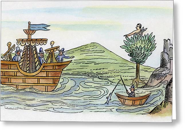 Spanish Conquest, C1519 Greeting Card by Granger