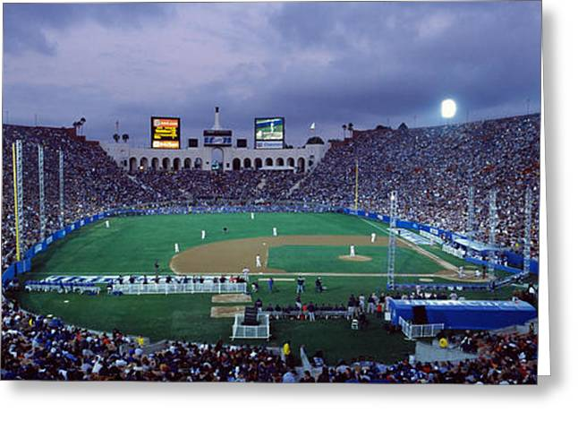 Spectators Watching Baseball Match, Los Greeting Card by Panoramic Images