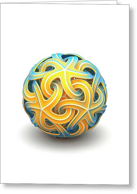 Sphere Of Interlocking Geometries Greeting Card