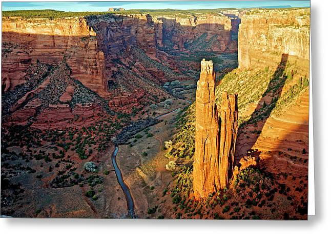 Spider Rock In Canyon De Chelly Greeting Card by Richard Wright