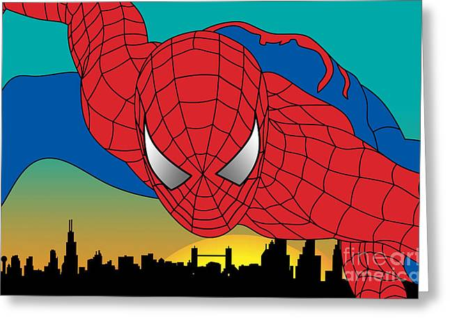 Spiderman  Greeting Card by Mark Ashkenazi
