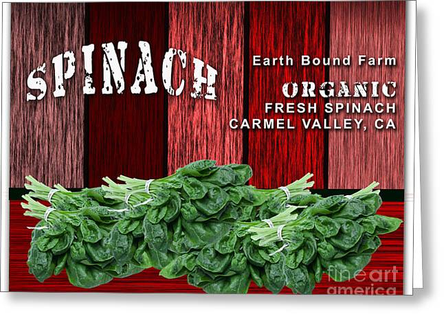 Spinach Patch Greeting Card by Marvin Blaine