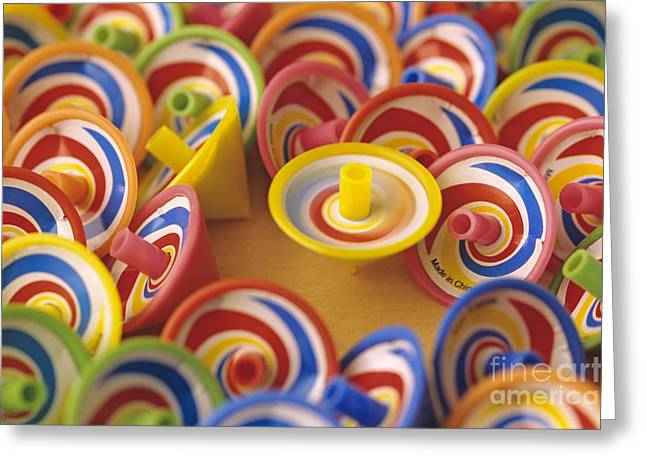Spinning Tops Greeting Card by Jim Corwin