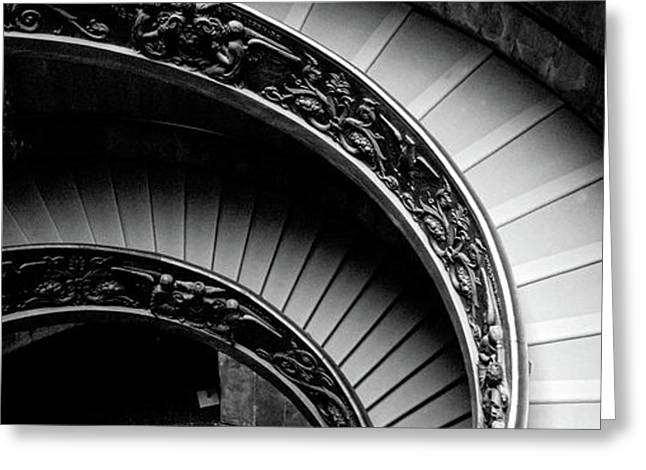 Spiral Staircase, Vatican Museum, Rome Greeting Card
