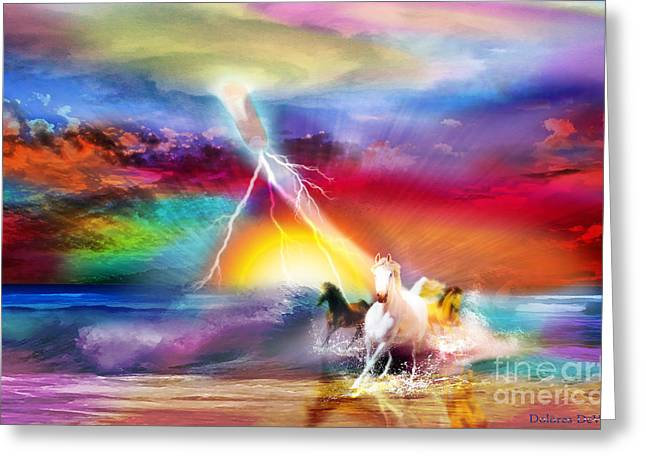Spirit Breath Greeting Card by Dolores Develde