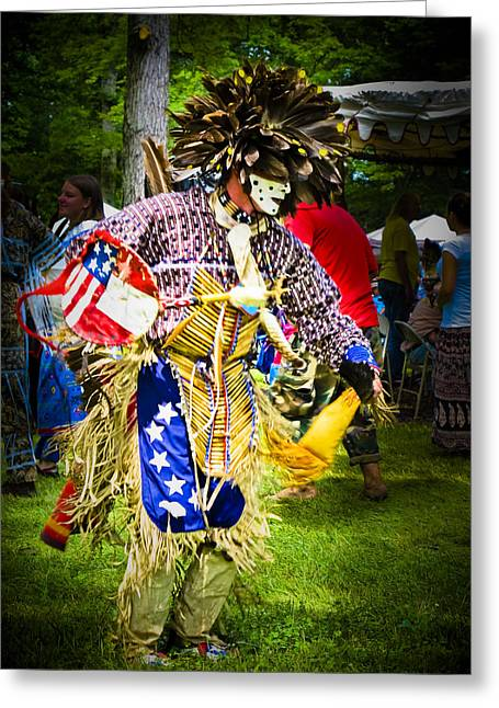 Spirit Dancer Greeting Card by Andrea Floyd