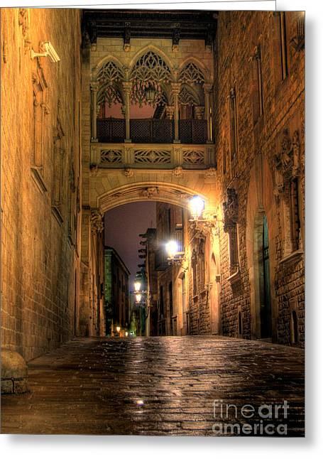 Spirit Of Gaudi Greeting Card by Erhan OZBIYIK