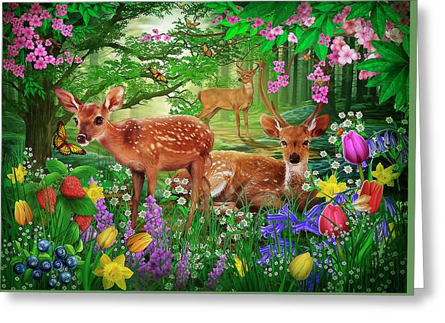 Spirit Of Spring Greeting Card