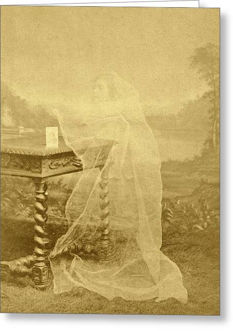 Spirit Photograph Greeting Card by American Philosophical Society