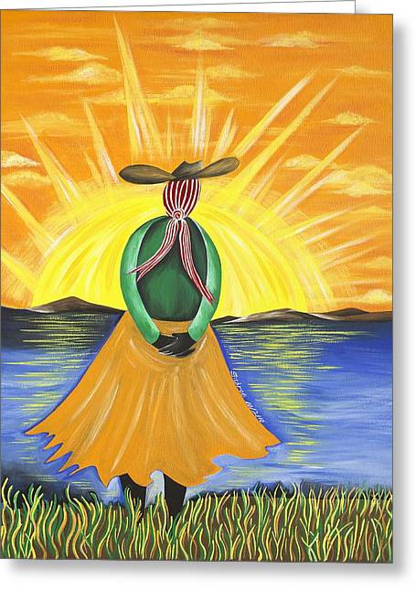 Spiritual Awakening Greeting Card by Patricia Sabree