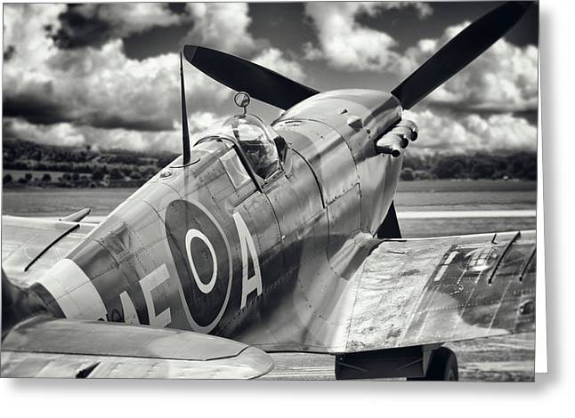 Spitfire Greeting Card by Ian Merton