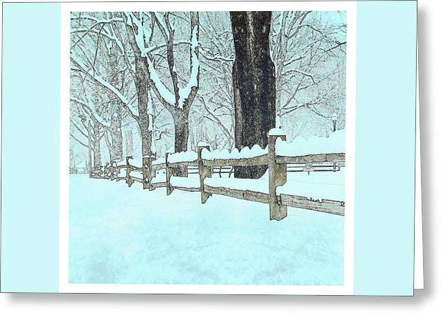 Split Rail Blues Greeting Card