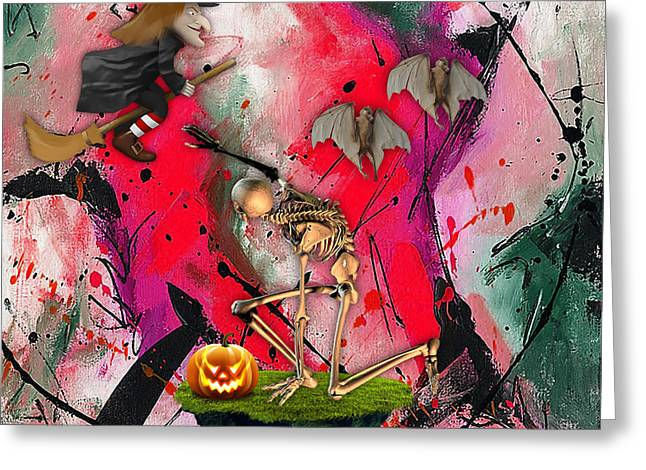Spooky Greeting Card by Marvin Blaine