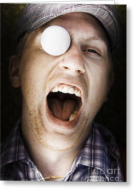 Sport Injury Greeting Card by Jorgo Photography - Wall Art Gallery