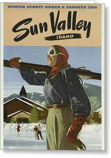 Sports Posters Greeting Card by Vintage