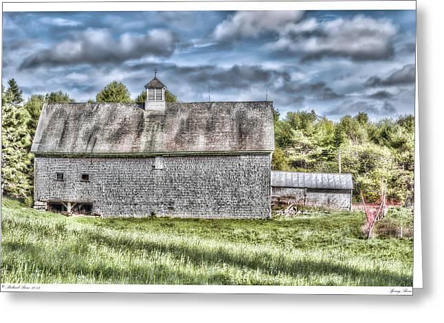 Spring Barn Greeting Card by Richard Bean